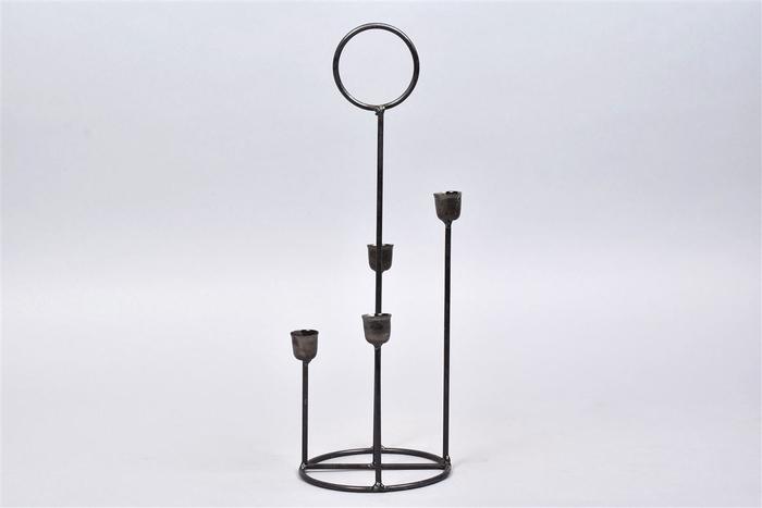 <h4>Kaarshouder Steel 12x35cm 4 Cups</h4>