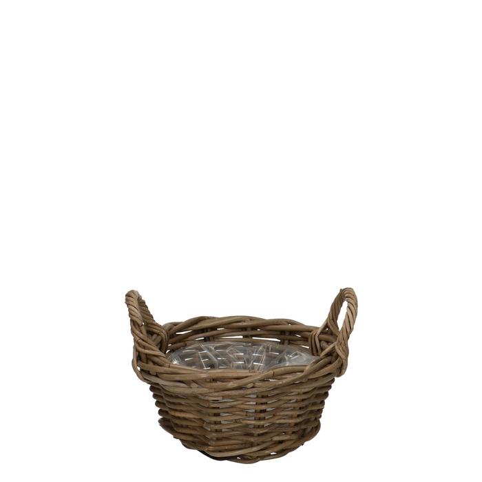 <h4>Baskets Rattan dish+handle d26*12cm</h4>