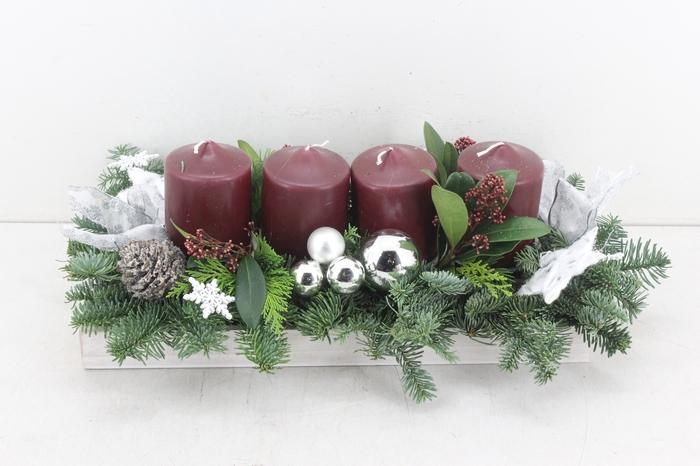 <h4>arr.. Kerst PL - Rechth. stomp bordeaux</h4>