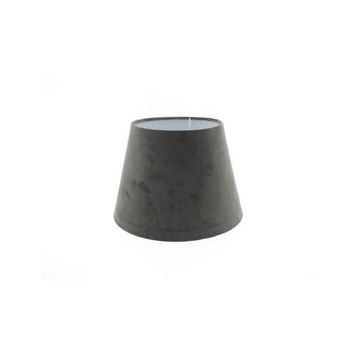 <h4>Lamp Shade Ø30xh22cm Grey Vel.</h4>