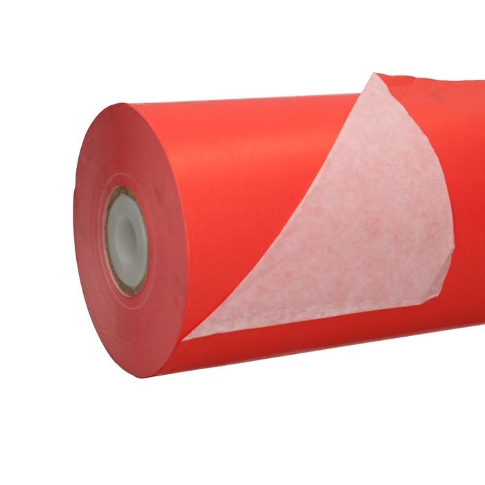 <h4>Papier Rol 75cm 40g 10kg Wit/Rood</h4>