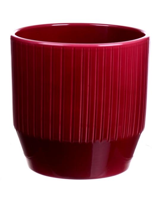 <h4>DF883651447 - Pot Pisa+lines d13.5xh13.2 rubin glazed</h4>