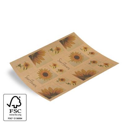 <h4>Papier vel: 62x85 cm br. kraft Sunflowers 460st</h4>