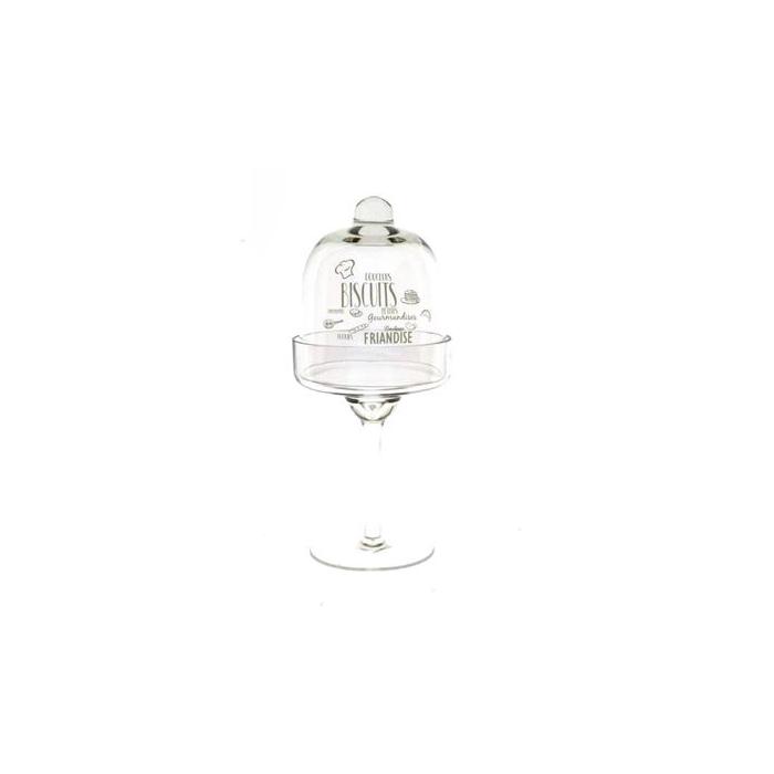 <h4>Glass Biscuits W/dome Ø11x26cm</h4>