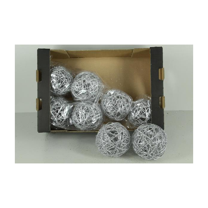 <h4>Bruce Ball 15cm Silver Gl(2pc)</h4>