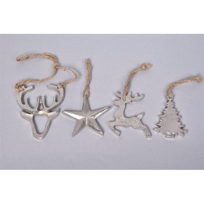 <h4>Alumina Zilver 8cm Kersthanger Ass P/1</h4>