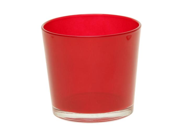 <h4>DF882892800 - Pot Nashville d13.3xh12.5 wine red</h4>