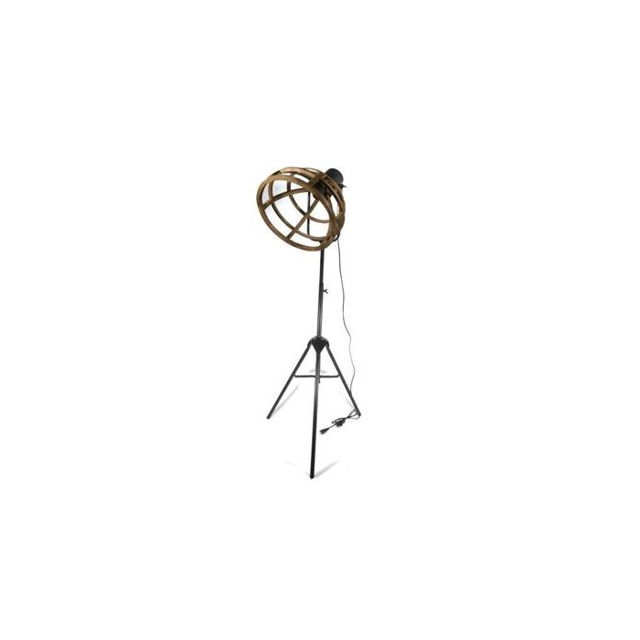 <h4>Lamp Mtl/wd Standing 134cm Blk</h4>