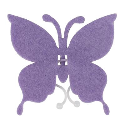 <h4>Butterfly felt 8x8,5cm + clip lilac</h4>