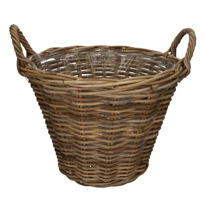<h4>Baskets Rattan pot+handle d42*32cm</h4>