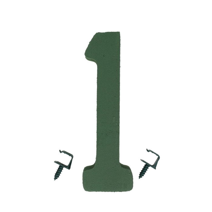 <h4>Steekschuim Basic Cijfer 1 27cm</h4>
