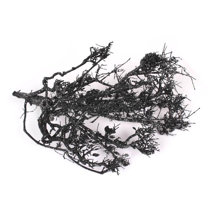 <h4>Bonsai twig small p.pc Black with Silver Glitter</h4>