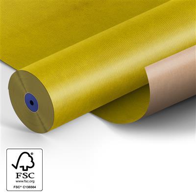 <h4>Papier 60cm Kraft 50gr  marron Jaune Fond 400m.</h4>