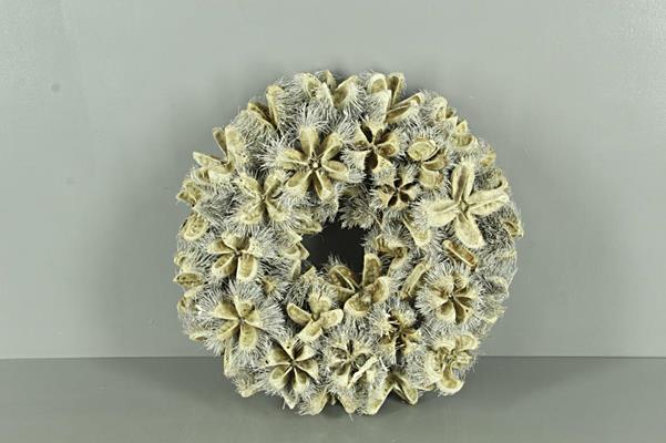 <h4>Wreath Kartoos Ø38cm Whitewash</h4>