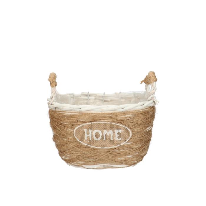 <h4>Manden Home ovaal+handvat 20*13*18cm</h4>