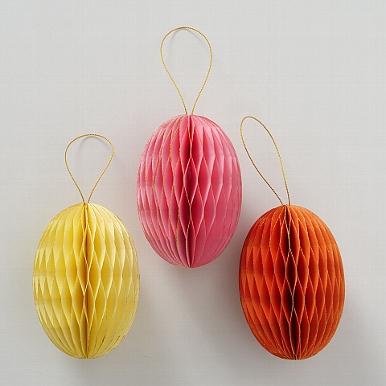 <h4>Decorative pendant Sander, 3 ass., Egg, H 12 cm, D 8 cm, Paper paper colour-mix</h4>