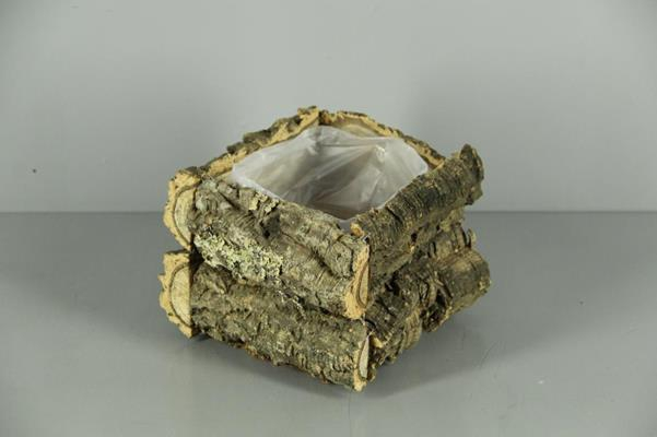 <h4>Cork Pot 14x14x15cm Trunks</h4>