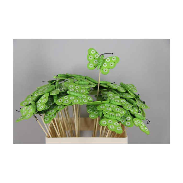 <h4>Stick Butterfly Wooden Green</h4>
