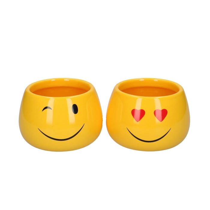 <h4>Keramiek Smiley pot d07/10*7cm ass.</h4>