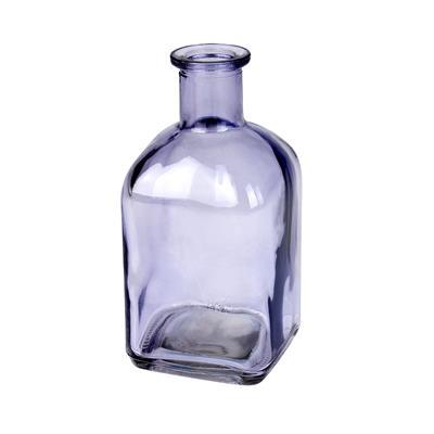<h4>Vaas Bamako glas L6,5xB6,5xH13cm paars transparant</h4>