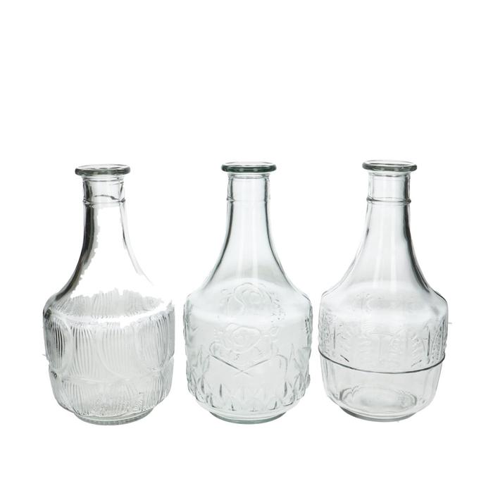 <h4>Glas Fles Diamond ass d2/11*22cm</h4>