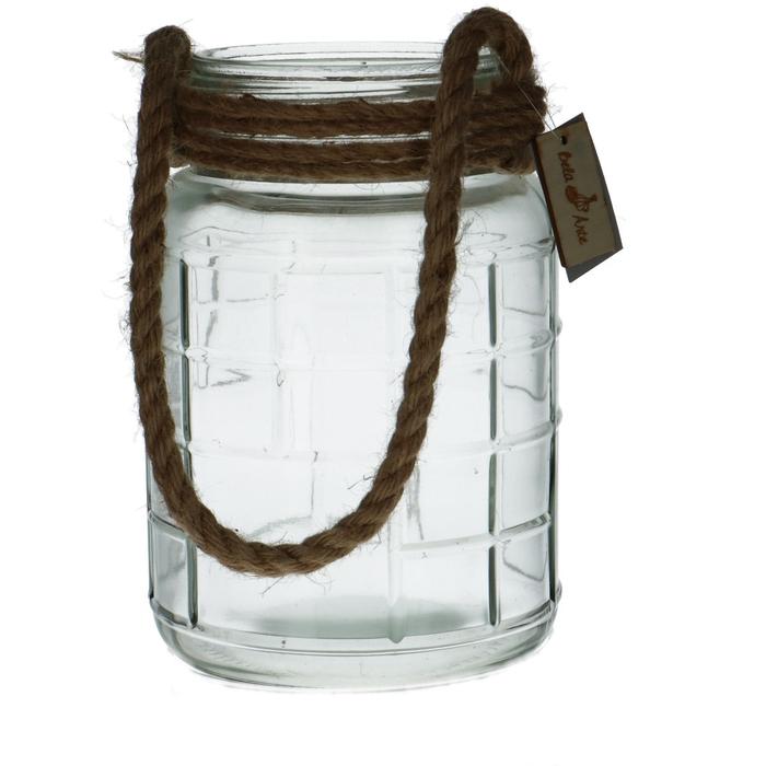 <h4>Glas Pot+touw d16*23cm</h4>