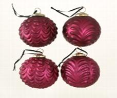 <h4>Christmas ball Bolia, 4 ass., Ball, D 10 cm, Glas lackiert, Fuchsia glass laquered pink</h4>