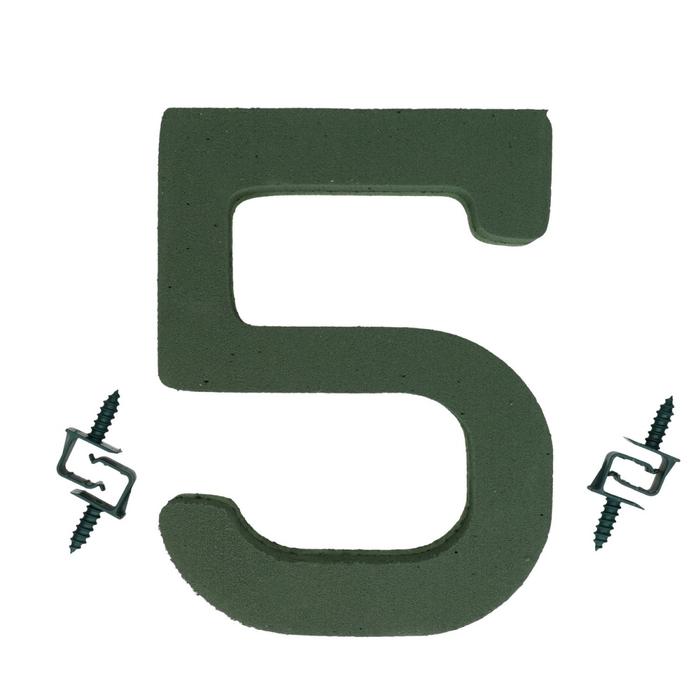 <h4>Steekschuim Basic Cijfer 5 27cm</h4>