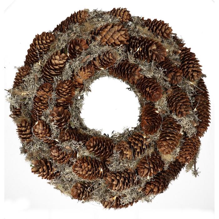<h4>Wreath d45cm Pine cone+moss</h4>