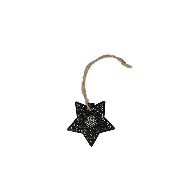 <h4>Kerst Hanger ster metaal 06cm x4</h4>