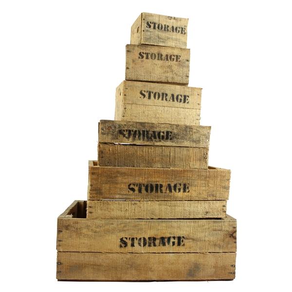<h4>Set storage kisten naturel (set van 6)</h4>