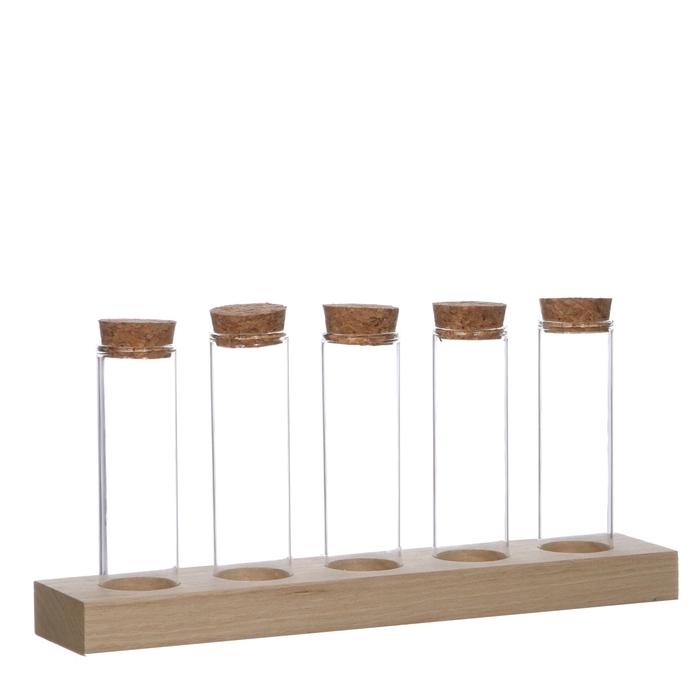 <h4>Glas Tray 5buis+kruk d03*10cm</h4>