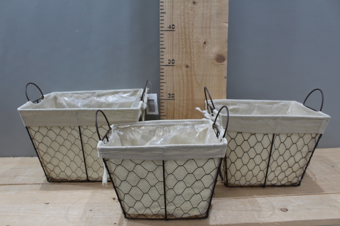 <h4>WIRE BASKET RECTANGLE WITH JUTE SET 3PCS ZX17A-615</h4>
