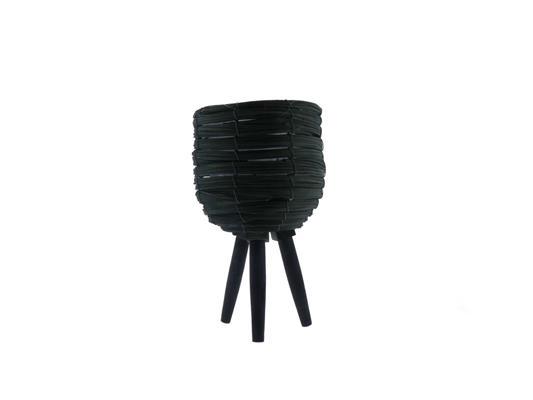 <h4>Basket W/feet Ø25x45 Grey/nat.</h4>
