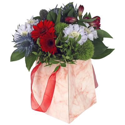 <h4>Bag Marble carton 12/12x15/15xH18cm red</h4>