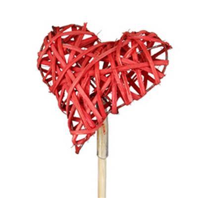 <h4>Cœur de Valentine woody sur tige 50cm rouge</h4>