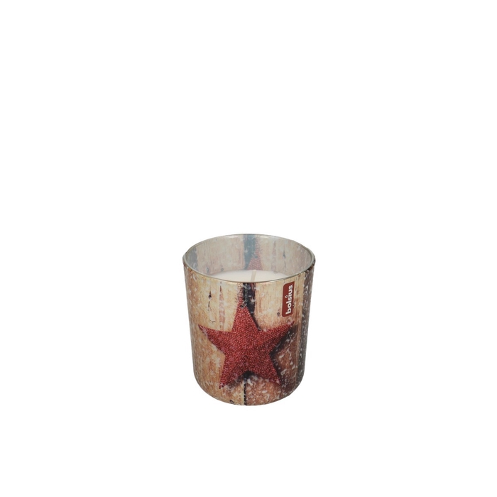 <h4>Kaars Glaspot geur Kerst d8*7cm</h4>