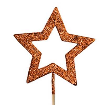 <h4>Étoile ouvrir ø9cm + pique 50cm éclat Copper</h4>