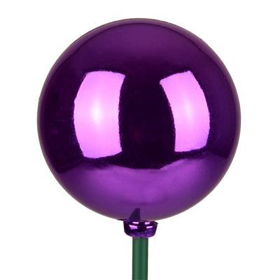 <h4>Bals de Noël Ø6cm violet éclat sur tige 50cm</h4>