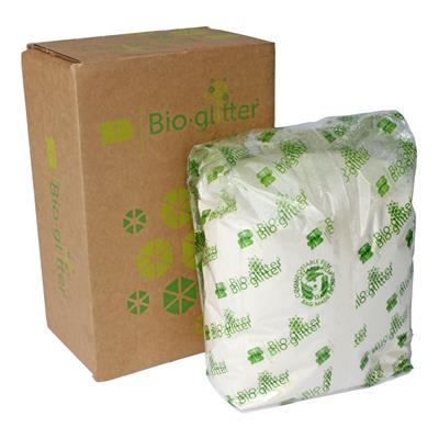 <h4>Bioglitter doos 1 KG Sparkle plus wit 015 Hex</h4>