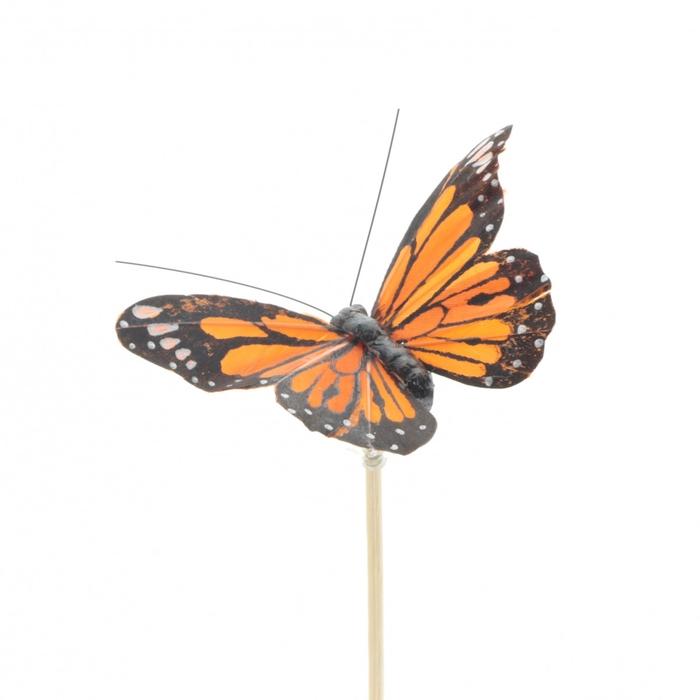 <h4>Bijsteker 50cm Vlinder Atalanta 9cm</h4>