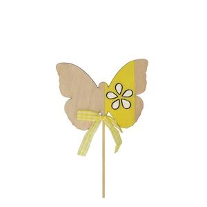 Bijsteker 20cm Vlinder hout 8.5cm