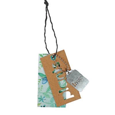 <h4>Pendantif label Plants métal+carton 4x7,5cm+8cm co</h4>