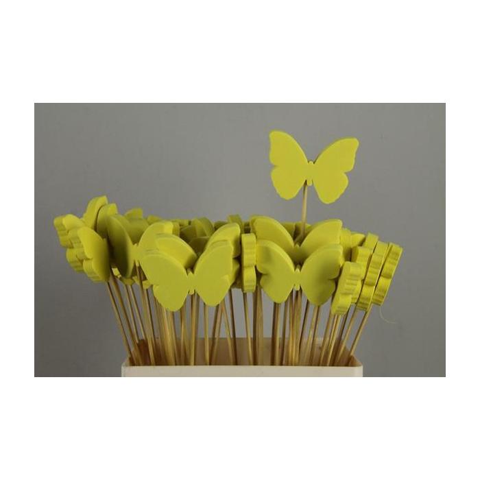 <h4>Stick Butterfly Foam Yellow</h4>