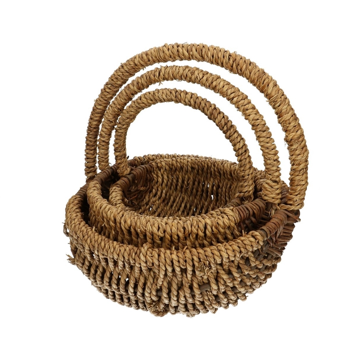 <h4>Baskets Rope round S/3 d36*29cm</h4>