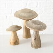 <h4>Deco Hout Goud Glitter Mushroom H19</h4>