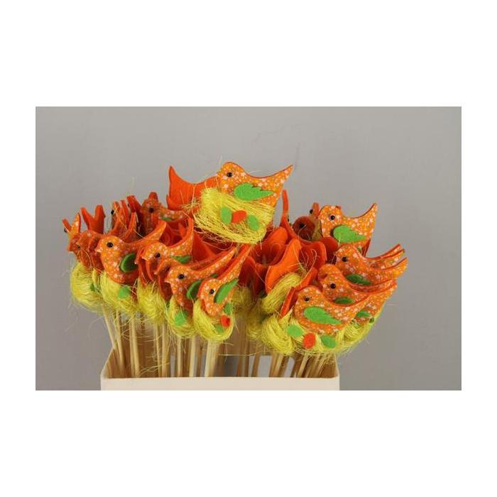 <h4>Stick Bird Felt-nest Orange</h4>