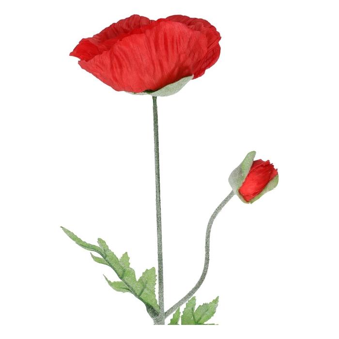 <h4>Silk Poppy spray 70cm</h4>