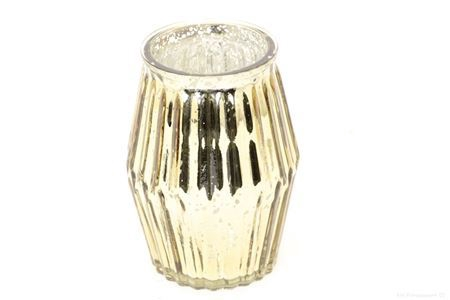<h4>SHIMMER ETCHED TLIGHT GLASS ROUND H16.0 D11.0 GOLD 861824036</h4>