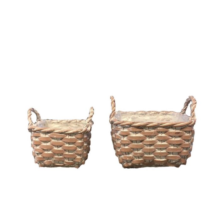 <h4>Baskets Norma tray square S/2 d20*12cm</h4>